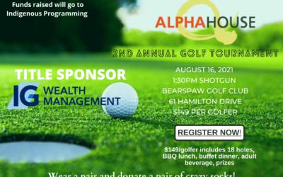 Alpha House's 2nd Annual Golf Tournament Fundraiser